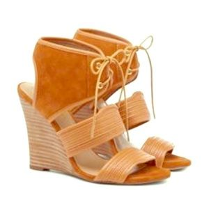 Sole Society Khalessi wedge lace up sandal heel